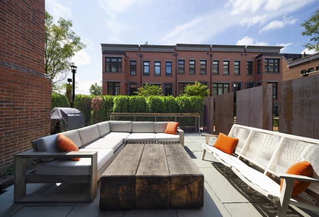 View of the Patio at Buchanan Park Apartments that the MEP Engineer firm, Henry Adams, worked on
