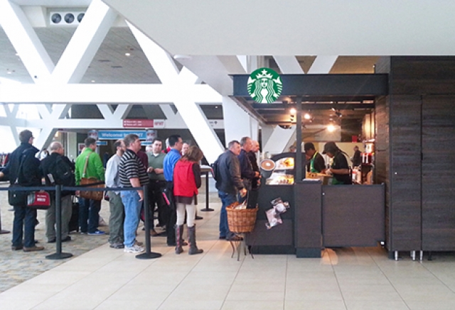 HENRY ADAMS was the MEP engineer for the Starbucks in the convention center.